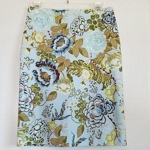 🎀3/20! Femininine Floral Sky Blue Pencil Skirt